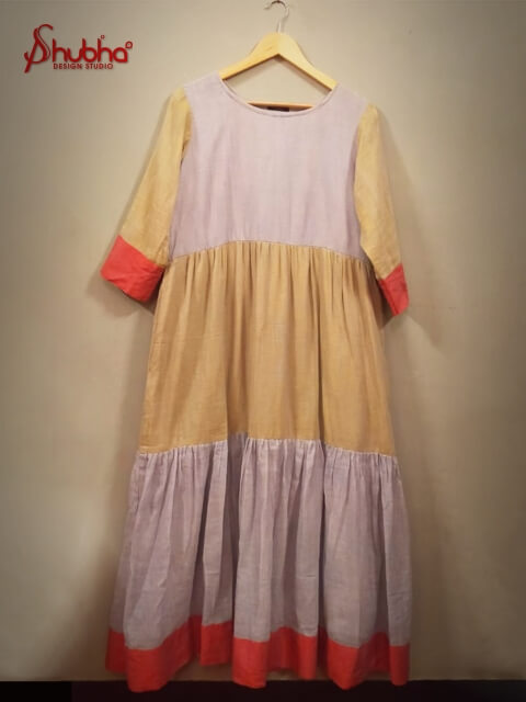 3 Tier Layered Khadi Dress